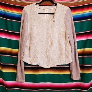 Gray & Cream Sweater Cardigan